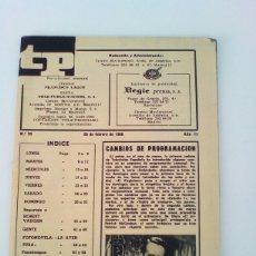Coleccionismo de Revista Teleprograma: TP. TELEPROGRAMA REVISTA DE PROGRAMACIÓN TVE. N° 99 AÑO 1968.SIN TAPAS.. Lote 83976754
