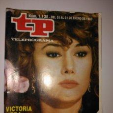 Coleccionismo de Revista Teleprograma: REVISTA TP TELEPROGRAMA N. 1138 ENERO 1988. Lote 87029799