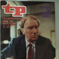 Coleccionismo de Revista Teleprograma: REVISTA TP TELEPROGRAMA N. 786 MAYO 1981. Lote 87031679