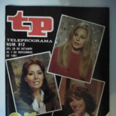 Coleccionismo de Revista Teleprograma: REVISTA TP TELEPROGRAMA N. 812 OCTUBRE 1981. Lote 87032183