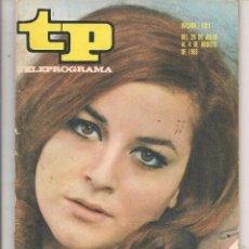 Coleccionismo de Revista Teleprograma: TP. TELEPROGRAMA. Nº 121. MARIA MASSIP. (C/U). Lote 87161428