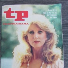 Collectionnisme de Magazine Teleprograma: REVISTA TP Nº 918 1983. TELEPROGRAMA. EDICIÓN BARCELONA. FLAMINGO ROAD. . Lote 89054700