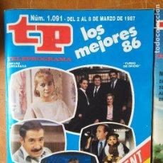Coleccionismo de Revista Teleprograma: TELEPROGRAMA TP NUMERO 1091 - 1.091 AÑO 1987 ALFREDO LANDA MERCEDES MILA ..... Lote 94223150