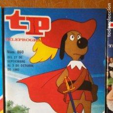 Coleccionismo de Revista Teleprograma: TP. TELEPROGRAMA. Nº 860. D´ARTACAN. DARTACAN Y LOS TRES MOSQUEPERROS AÑO 1982 . Lote 94223415