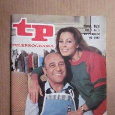 Coleccionismo de Revista Teleprograma: TELEPROGRAMA TP N. 826. DIALOGOS DE MATRIMONIO, JESUS PUENTE, Mª LUISA SAN JOSE, PREMIOS TP 81, ABC. Lote 96745827