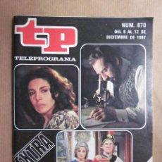 Coleccionismo de Revista Teleprograma: TELEPROGRAMA TP N. 870. TP EXTRA. ROMY SCHNEIDER, INGRID BERGMAN, GRACE KELLY, LORENZO LAMAS. Lote 96756107