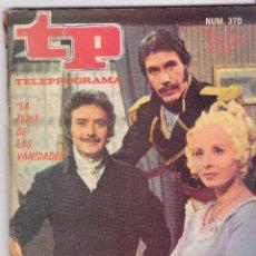 Coleccionismo de Revista Teleprograma: TP TELEPROGRAMA NÚMERO 370, VICTOR VALVERDE, NURIA CARRESI, AVENTURAS DISNEY, MAYO 1973. Lote 98429155