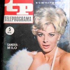 Coleccionismo de Revista Teleprograma: TELEPROGRAMA Nº 2. 1966. Lote 98651379