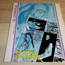 Coleccionismo de Revista Teleprograma: SUPLEMENTO EL DOMINICAL DE EL PERIÓDICO. LA VIDA EN CÓMIC. 1981. Lote 99266379