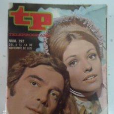 Coleccionismo de Revista Teleprograma: REVISTA TP TELEPROGRAMA Nº 292 ALFREDO ALCON Y SILVIA TORTOSA. Lote 100036355