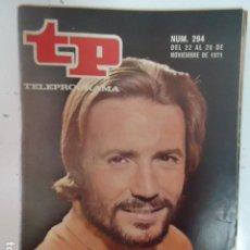 Coleccionismo de Revista Teleprograma: REVISTA TP TELEPROGRAMA Nº 294 A TRAVES DE LA NIEBLA. Lote 100036499