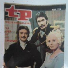 Coleccionismo de Revista Teleprograma: REVISTA TP TELEPROGRAMA Nº 370 LA FERIA DE LAS VANIDADES. Lote 100039551