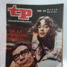 Coleccionismo de Revista Teleprograma: REVISTA TP TELEPROGRAMA Nº 378 DE LA PIEL DEL DIABLO. Lote 100039891