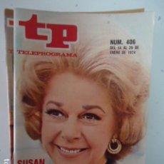 Coleccionismo de Revista Teleprograma: REVISTA TP TELEPROGRAMA Nº 406 SUSAN HAYWARD. Lote 100046059