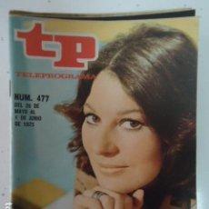 Coleccionismo de Revista Teleprograma: REVISTA TP TELEPROGRAMA Nº 477 TELE-REVISTAS. Lote 100051759