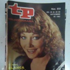 Coleccionismo de Revista Teleprograma: REVISTA TP TELEPROGRAMA Nº 859 BLANCA ESTRADA. Lote 100079115