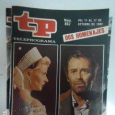 Coleccionismo de Revista Teleprograma: REVISTA TP TELEPROGRAMA Nº 862 CICLOS DEDICADOS A INGRID Y HENRY. Lote 100079235