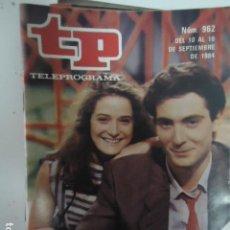 Coleccionismo de Revista Teleprograma: REVISTA TP TELEPROGRAMA Nº 962 CREMALLERA. Lote 100083075
