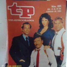 Coleccionismo de Revista Teleprograma: REVISTA TP TELEPROGRAMA Nº 985 MIKE HAMMER. Lote 143176886