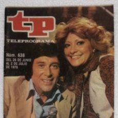 Coleccionismo de Revista Teleprograma: REVISTA TELEPROGRAMA, TP, Nº 638 (DEL 26 JUNIO AL 2 JULIO 1978) CON PROGRAMACION EPISODIO MAZINGER Z. Lote 100377727