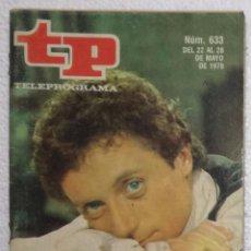 Coleccionismo de Revista Teleprograma: REVISTA TELEPROGRAMA, TP, Nº 633 (DEL 22 AL 28 MAYO 1978) - CON PROGRAMACION EPISODIO MAZINGER Z. Lote 100377887