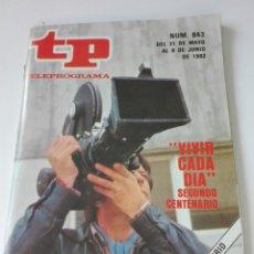 Coleccionismo de Revista Teleprograma: TELEPROGRAMA TP NUM 843 JUNIO 1982. Lote 103206411