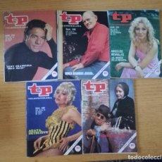 Coleccionismo de Revista Teleprograma: LOTE 5 REVISTAS REVISTA TP, TELEPROGRAMAS DEL AÑO 1977. NÚMEROS 579, 596, 595 580, 577. Lote 120409619