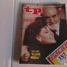 Coleccionismo de Revista Teleprograma: REVISTA TP N 1087 FEBRERO 1987. Lote 103694043