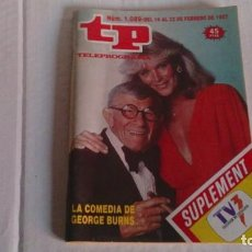 Coleccionismo de Revista Teleprograma: REVISTA TP N 1089 FEBRERO 1987. Lote 103694563