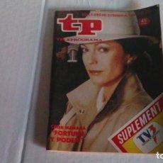 Coleccionismo de Revista Teleprograma: REVISTA TP N 1090/ FEBRERO 1987. Lote 103694895