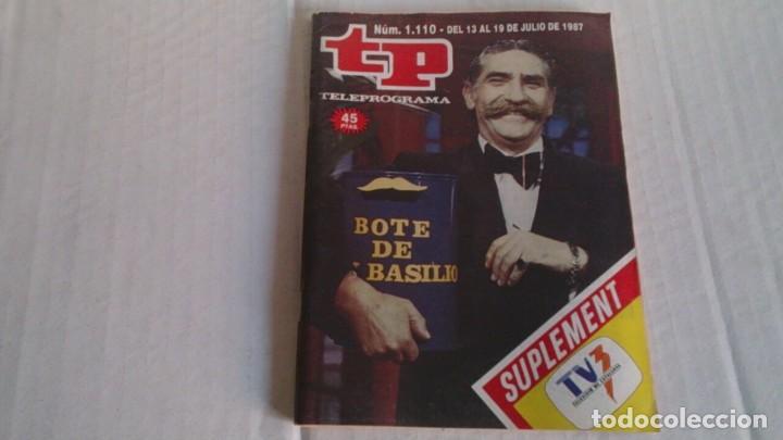 REVISTA TP N 1110 JULIO 1987 (Coleccionismo - Revistas y Periódicos Modernos (a partir de 1.940) - Revista TP ( Teleprograma ))