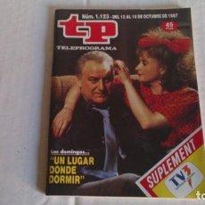 Coleccionismo de Revista Teleprograma: REVISTA TP N 1123 OCTUBRE 1987. Lote 103839799