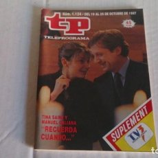 Coleccionismo de Revista Teleprograma: REVISTA TP N 1124 OCTUBRE 1987. Lote 103839907