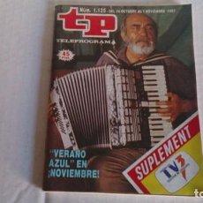 Coleccionismo de Revista Teleprograma: REVISTA TP N 1125 OCTUBRE 1987. Lote 103840023