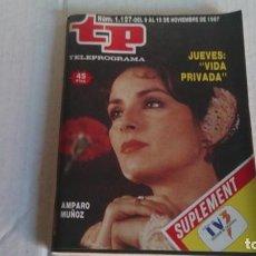 Coleccionismo de Revista Teleprograma: REVISTA TP N 1127 NOVIEMBRE 1987. Lote 103840279