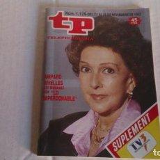 Coleccionismo de Revista Teleprograma: REVISTA TP N 1129 NOVIEMBRE 1987. Lote 103840527