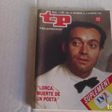 Coleccionismo de Revista Teleprograma: REVISTA TP N 1130 DICIEMBRE 1987. Lote 103840687