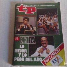 Coleccionismo de Revista Teleprograma: REVISTA TP N 1131 DICIEMBRE 1987. Lote 103840803
