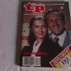 Coleccionismo de Revista Teleprograma: REVISTA TP N 1136 ENERO 1988. Lote 103945919