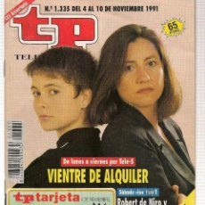 Coleccionismo de Revista Teleprograma: TP. TELEPROGRAMA. Nº 1335. 10 NOVIEMBRE 1991.(P/B30). Lote 105607759