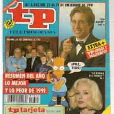 Coleccionismo de Revista Teleprograma: TP. TELEPROGRAMA. Nº 1342. 29 DICIEMBRE 1991.1991.(P/B30). Lote 105607835