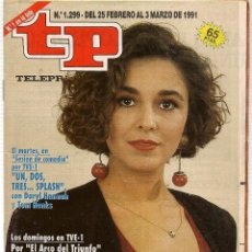 Coleccionismo de Revista Teleprograma: TP. TELEPROGRAMA. Nº 1299. 3 MARZO 1991. (P/B30). Lote 105608043