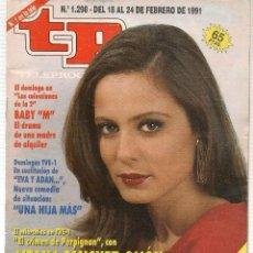 Coleccionismo de Revista Teleprograma: TP. TELEPROGRAMA. Nº 1298. 24 FEBRERO 1991. (P/B30). Lote 105608123