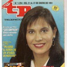Coleccionismo de Revista Teleprograma: TP. TELEPROGRAMA. Nº 1294. 27 ENERO 1991. (P/B30). Lote 105608199