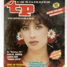 Coleccionismo de Revista Teleprograma: TP. TELEPROGRAMA. Nº 1268. 29 JULIO 1990. (P/B30). Lote 105608823