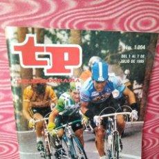 Coleccionismo de Revista Teleprograma: REVISTA TP TELEPROGRAMA JULIO 1985 PERICO DELGADO . Lote 108668955