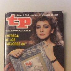 Coleccionismo de Revista Teleprograma: REVISTA TP TELEPROGRAMA Nº 1092. Lote 108928671