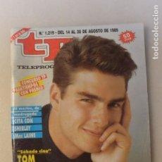 Coleccionismo de Revista Teleprograma: REVISTA TP TELEPROGRAMA Nº 1219 AGOSTO 1989 TOM CRUISE. Lote 108928811