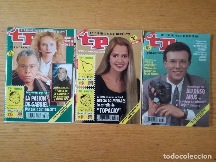 LOTE DE 3 REVISTAS TP TELEPROGRAMA AÑO 1991. NÚMEROS 1314 1326 1306 (Coleccionismo - Revistas y Periódicos Modernos (a partir de 1.940) - Revista TP ( Teleprograma ))