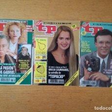 Coleccionismo de Revista Teleprograma: LOTE DE 3 REVISTAS TP TELEPROGRAMA AÑO 1991. NÚMEROS 1314 1326 1306. Lote 111542699